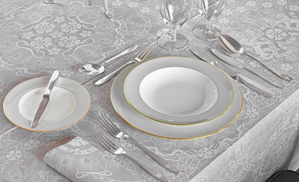 Provinciehuis Arnhem, gedekt voor luxe diners, 1954