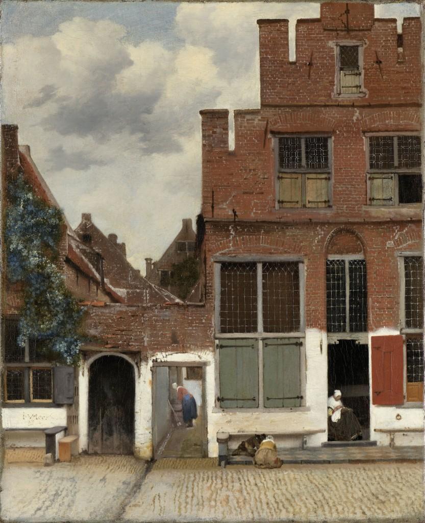 Gezicht op huizen in Delft, bekend als 'Het Straatje', Johannes Vermeer | ca. 1658 | Rijksmuseum