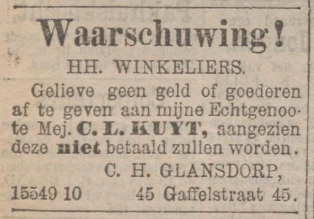 Tot 1957 was de vrouw handelingsonbekwaam en plaatsten mannen annonces in de krant