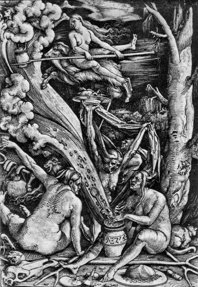 Typische afbeelding van heksen, 1510