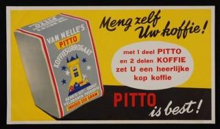 Surrogaatkoffie: 'geen zuivere koffie' ( Museum Rotterdam, bedrijfscollectie De Erven de Wed. J. van Nelle N.V.)