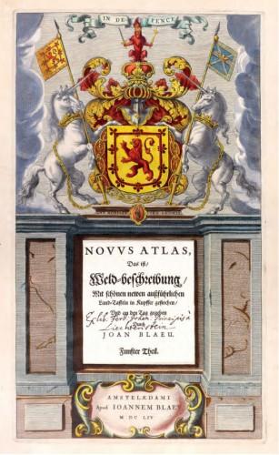 Gravure, afgezet en met goud gehoogd door Dirk Jansz van Santen. Willem Jansz Blaeu studeerde in 1595/96 bij Brahe en Joan Blaeu wijdde in het eerste deel van zijn Atlas Maior (1662) veertien prenten aan de leermeester van zijn vader. Dit voorbeeld van een luxe Blaeu- inkleuring is afkomstig uit de Atlas Relandus in Museum Meermanno.
