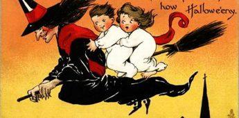Sfeervolle oude Halloween-kaarten