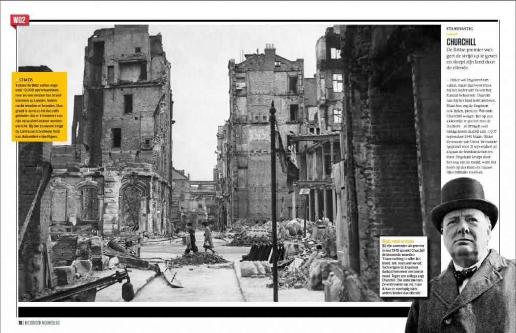 Spread uit het vernieuwde Historisch Nieuwsblad