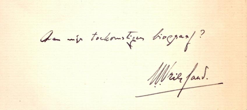 Opdracht aan Max Schuchart (1920-2005), december 1941. (collectie Rob Groenewegen)