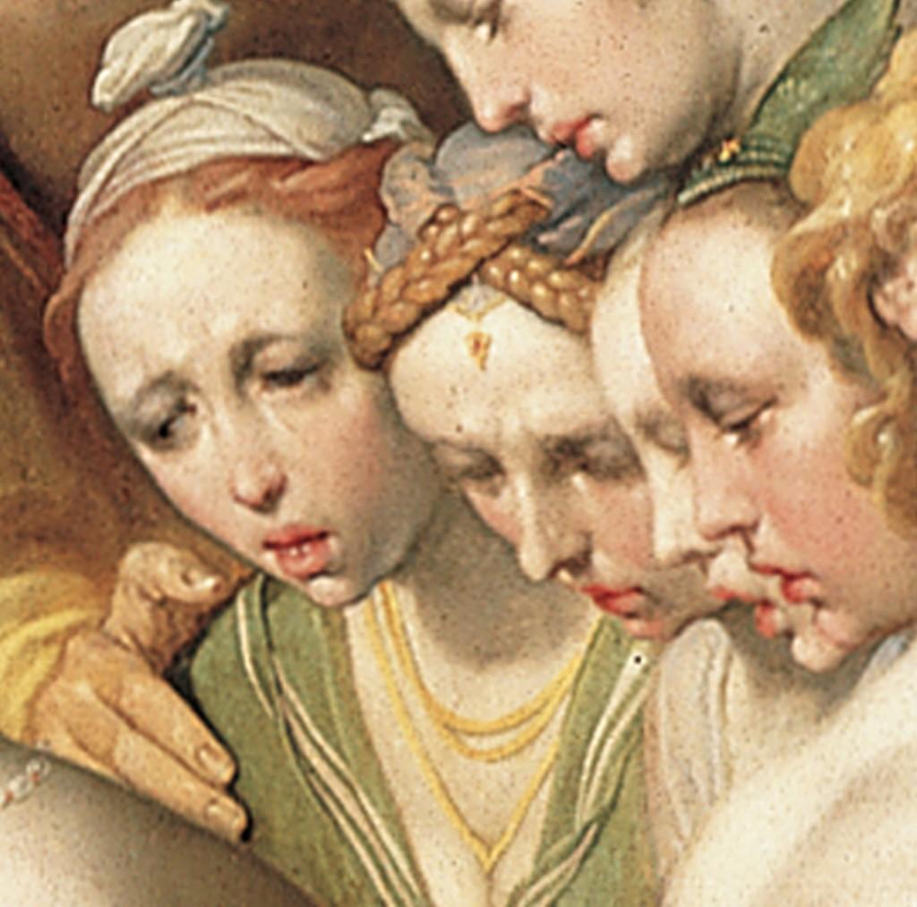 Detail van een schilderij van Cornelis van Haarlem (Frans Hals Museum)