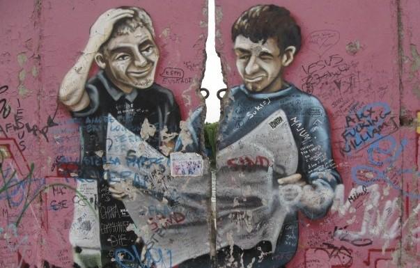 East Side Gallery van de Berlijnse Muur - cc