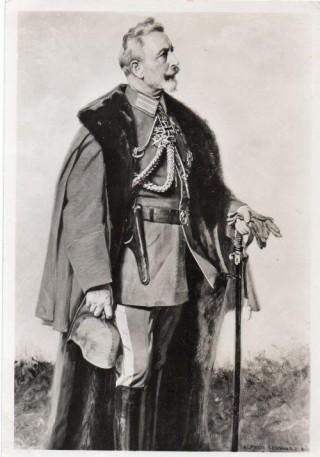 Wilhelm II op een oude ansichtkaart (coll. Kevin Prenger)
