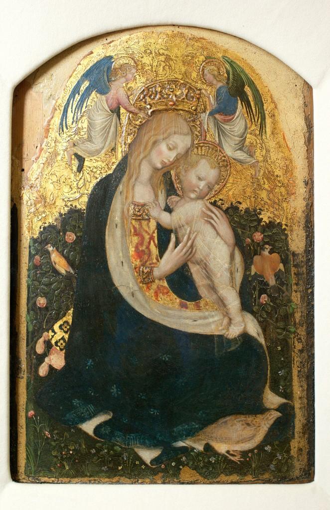 Een van de gestolen werken: Madonna della Quaglia - Pisanello, ca. 1420