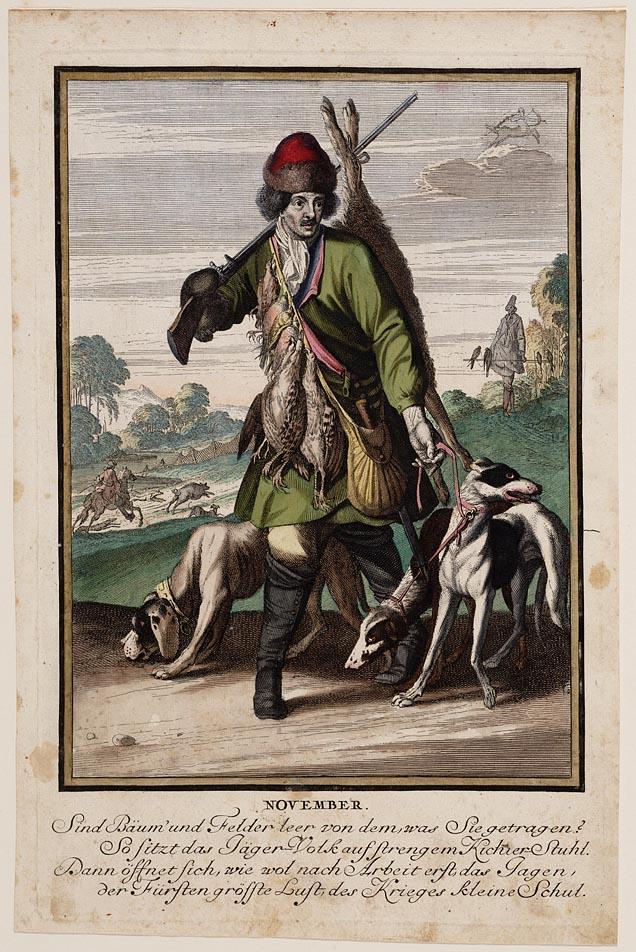 Casper Luyken, November, prent, 1700