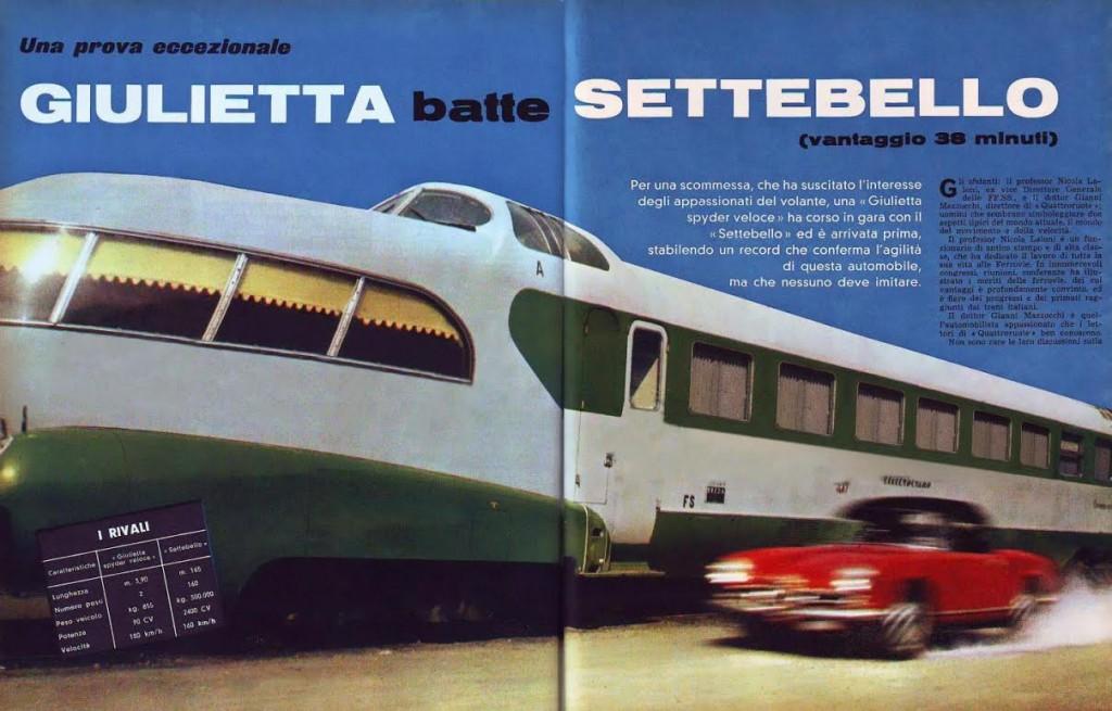 Artikel 'Giulietta verslaat Settebello', 1961 (Quattroruote)