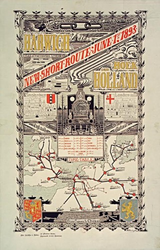 Affiche Harwich-Hoek van Holland door architect H.P. Berlage, 1893 (Bibliothèque nationale de France)