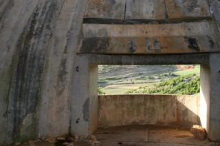 Interieur van een Albanese bunker - cc