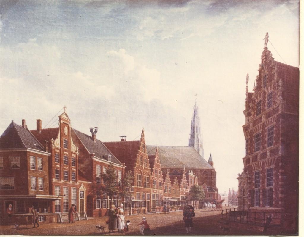 Schilderij, Izaak Ouwater, Nieuwstraat in Hoorn, 1784 (WFM)