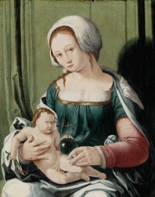 Madonna met Kind, Lucas van Leyden, ca. 1530 (Rijksmuseum)