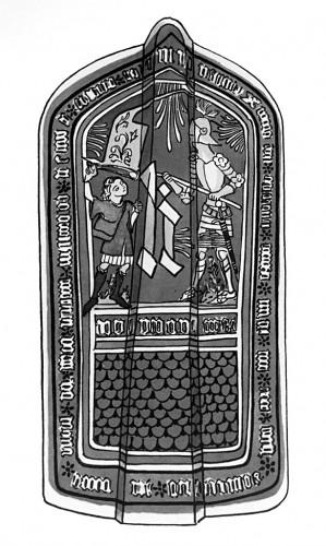 Bohmischer Setzschild (Pavese) - © Henk Boudewijns