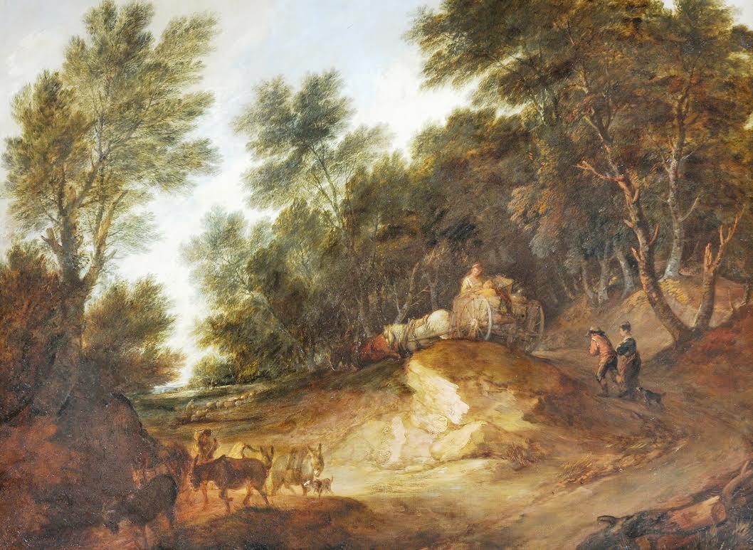 Thomas Gainsborough, Wooded Landscape, ca. 1783, National Trust