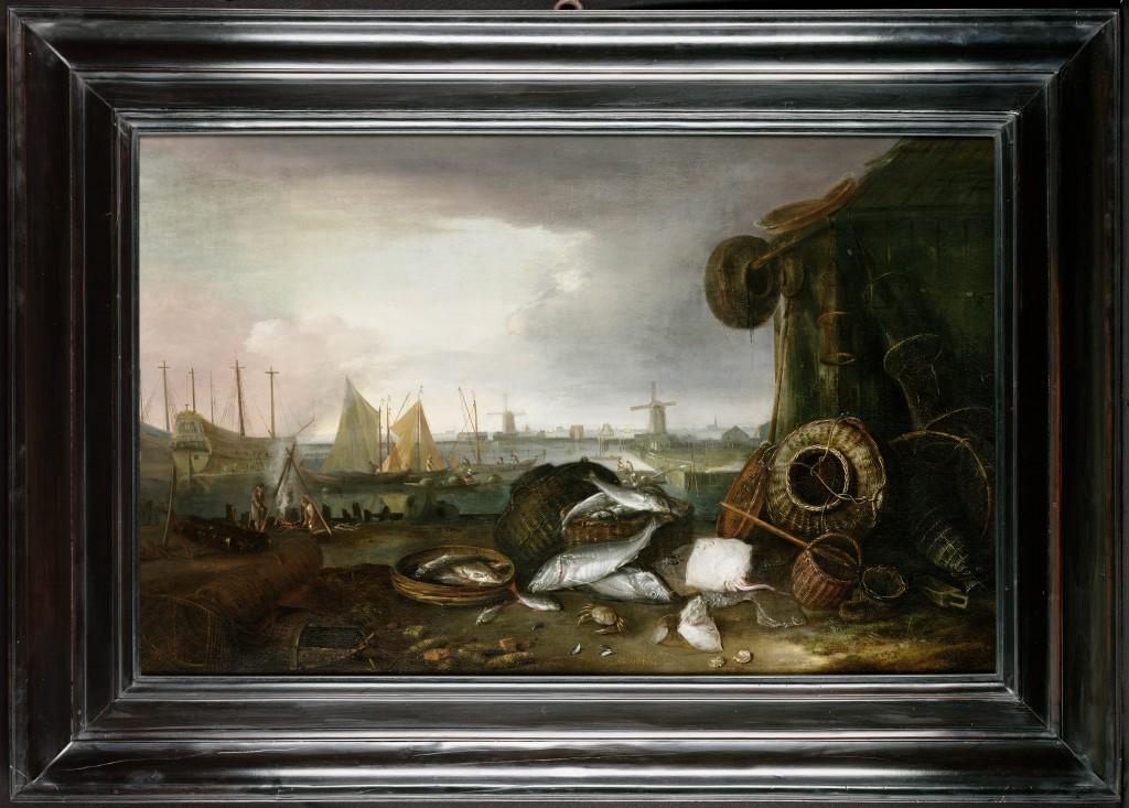 Schilderij, Matthias Withoos (1621/7 – 1703), Grashaven Hoorn (WFM)