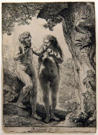 Rembrandt, Adam en Eva, 1638 © Stichting Rembrandt op Reis