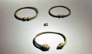Krijgerssierraden uit Rossum uit de Late IJzertijd. Ze zijn iets ten westen van het nu geïdentificeerde slagveld gevonden en – als ik het wel heb – in 2006 verworven door het Rijksmuseum van Oudheden.