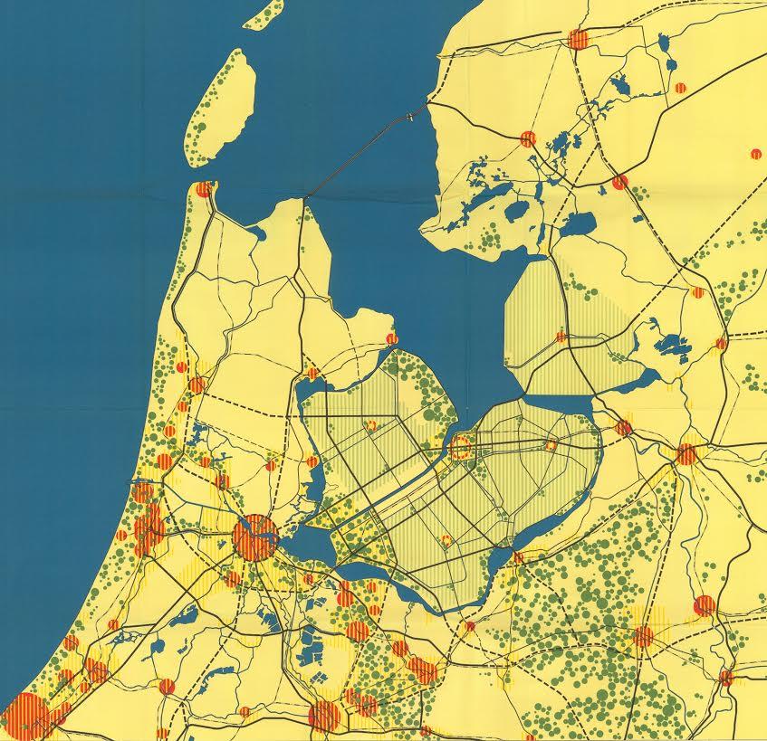 Het Structuurplan voor de Zuidelijke IJsselmeerpolders uit 1961.