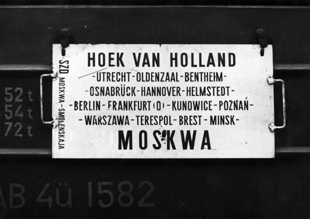Koersbord Hoek van Holland-Moskwa, 1972 (NS/Het Utrechts Archief)