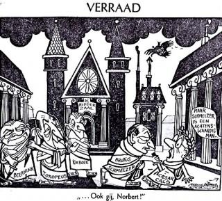 Spotprent De Nacht van Schmelzer, 1966. Bron: www.parlement.com