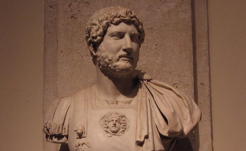 Buste van de Romeinse keizer Handrianus