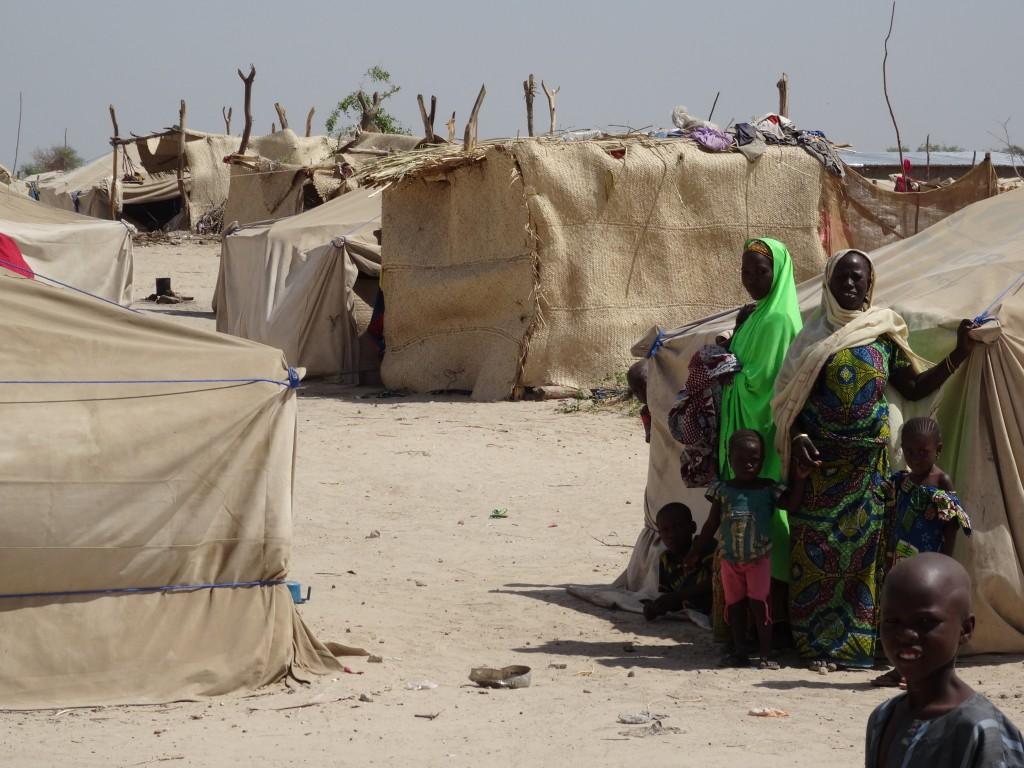 Opvangcentrum voor mensen die op de vlucht zijn geslagen voor het geweld