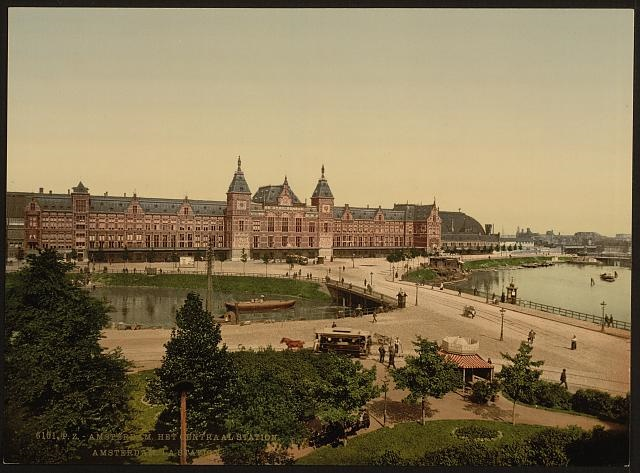 Onbekend, Centraal Station Amsterdam, 1890-1905, Library of Congres