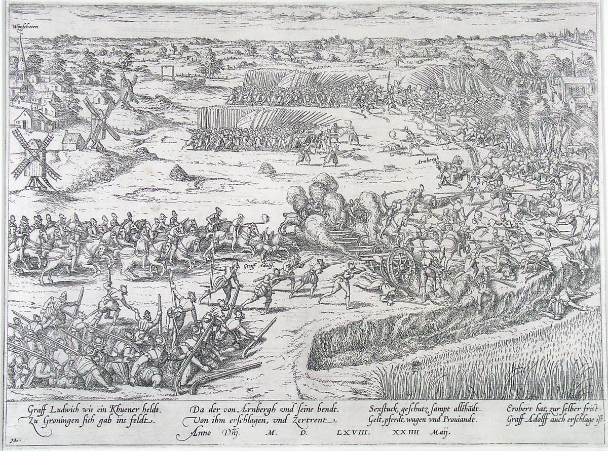 Slag bij Heiligerlee, door Frans Hogenberg.