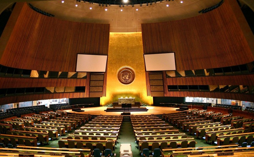 Vergaderzaal van de Algemene Vergadering van de Verenigde Naties