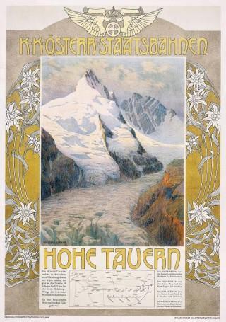 Affiche Hohe Tauern door Gustav Jahn, 1907