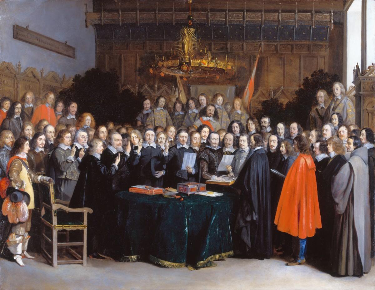 De ratificatie van de Vrede van Westfalen / Munster