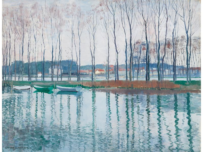 Gerrit Willem van Blaaderen - Bootjes aan de Seine, 1908 (particuliere collectie)