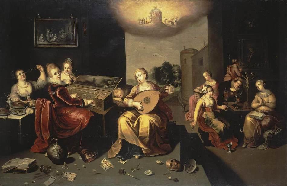 Gelijkenis van de wijze en dwaze maagden door Hieronymus II Francken