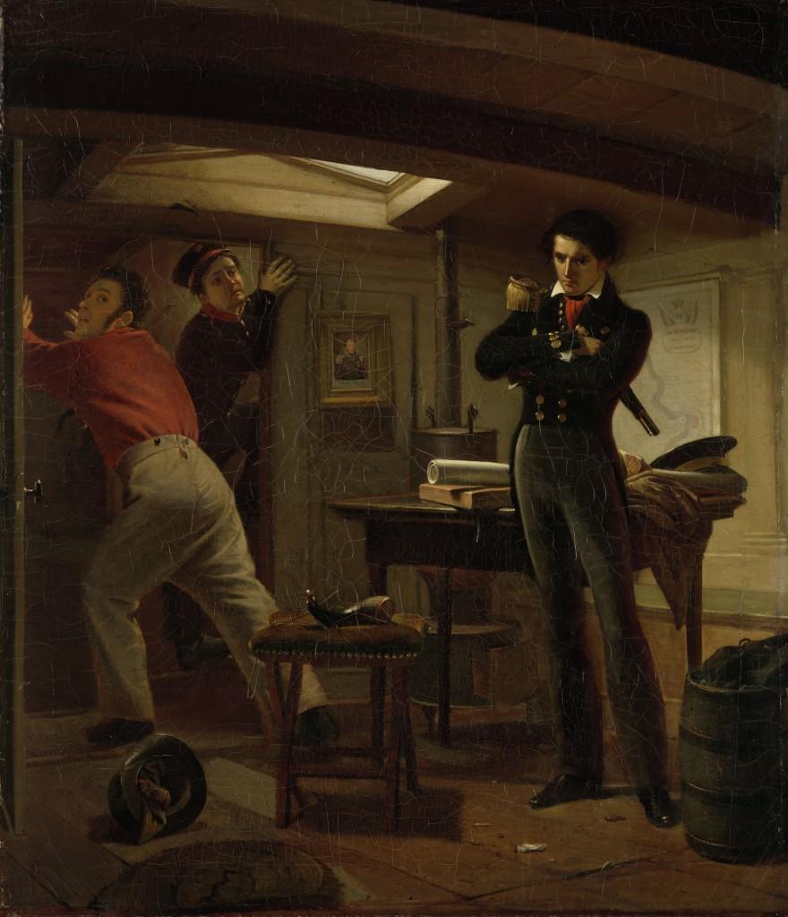 Jan van Speijk, kort voordat hij de kanonneerboot laat ontploffen - Jacobus Schoemaker Doyer, 1834 (Rijksmuseum)