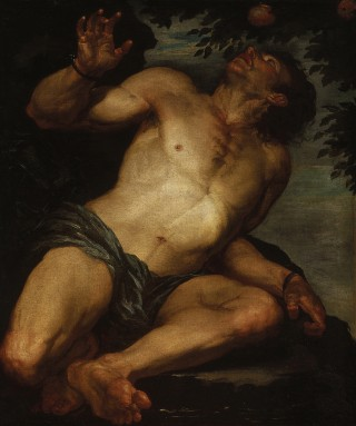 Tantalus en de Tantaluskwelling - Gioacchino Assereto, ca. 1640s (wiki)