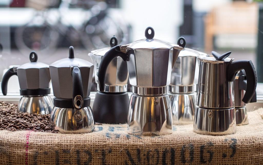 Verschillende modellen van de Bialetti-koffiepot