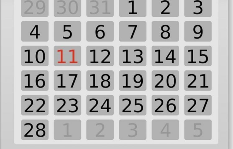 Februari heeft meestal maar 28 dagen (CC0 - Pixabay - Clker-Free-Vector-Images)