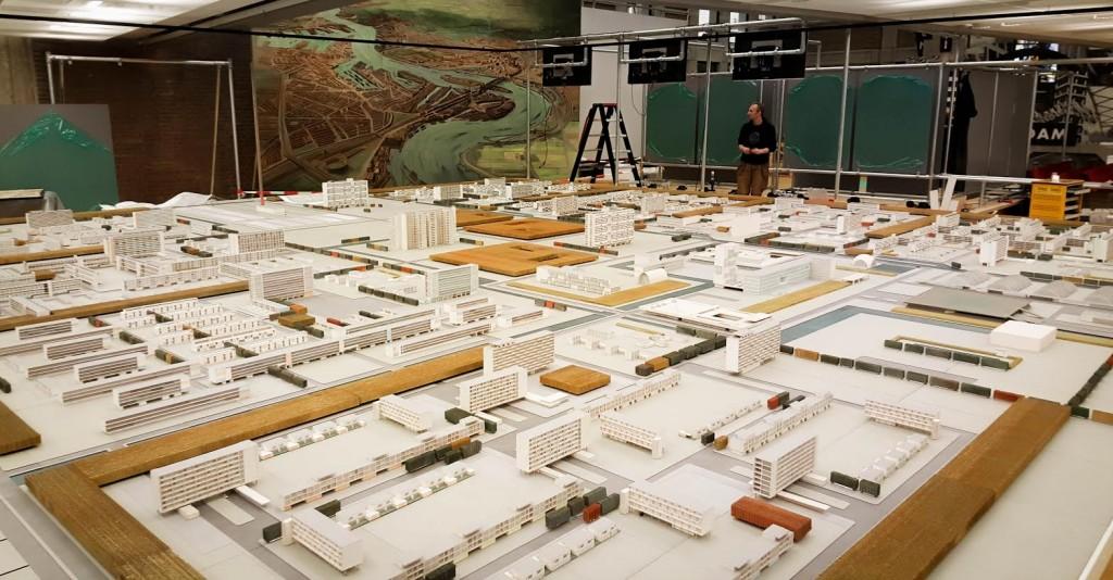 Museum Rotterdam-maquette stad van de toekomst 1955