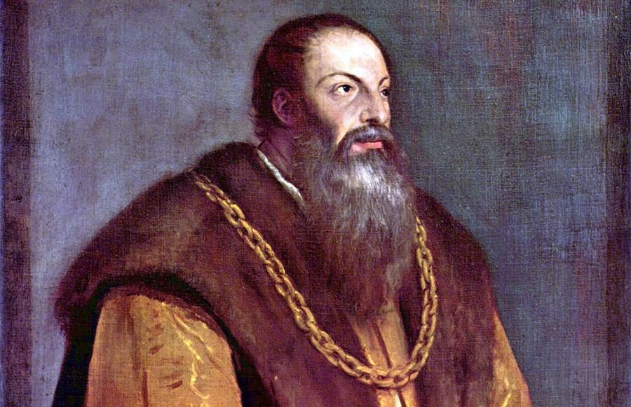 Portret van Pietro Aretino, ca. 1545. Bron: biografieonline.it