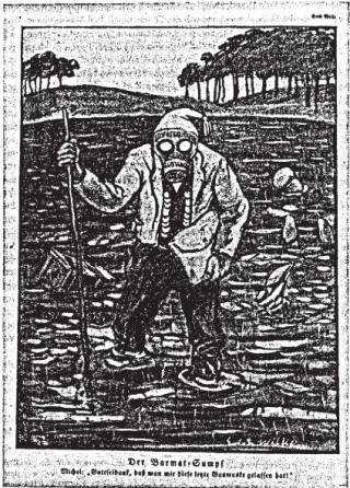 Der Barmas-Sumpf. Die Jugend, 1925. Bron: uni-muenchen.de