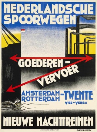 Affiche goederenvervoer, Agnes Canta, ca. 1931 (Spoorwegmuseum)