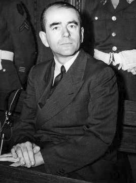 Albert Speer tijdens het Proces van Neurenberg