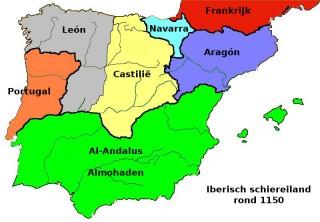 Iberisch schiereiland rond 1150