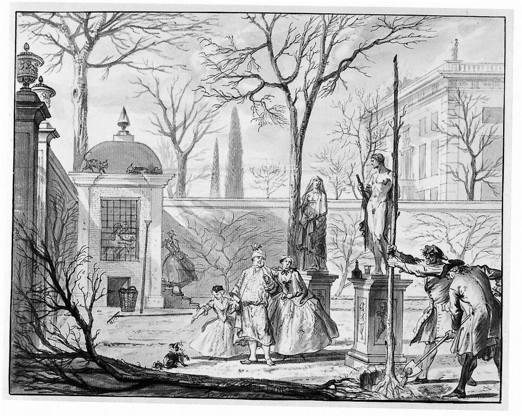Maart – het planten van een boom, Cornelis Troost, Amsterdam Museum
