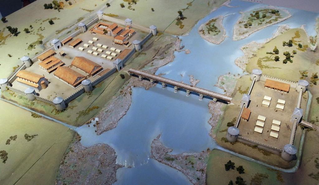Maquette van het castellum van Maastricht