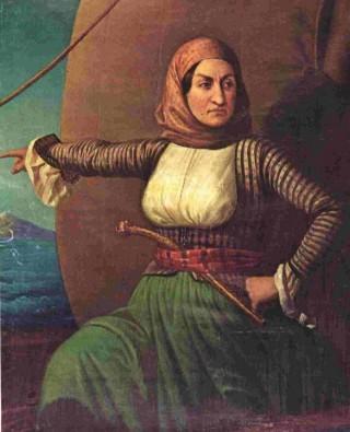 Schilderij van Bouboulina, Nationaal Historisch museum in Athene