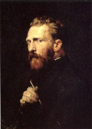 Vincent van Gogh volgens John Peter Russell, 1886.